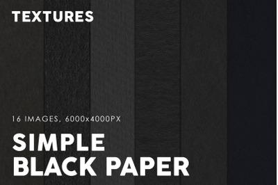 Black Simple Paper Textures