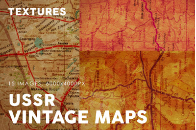 Vintage USSR Map Textures
