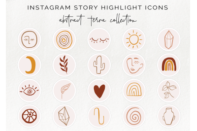 20 Instagram story highlight icons - abstract insta story covers
