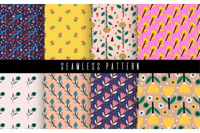 Pattern set flower textile