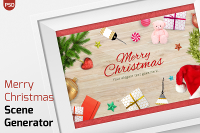 Merry Christmasitems scene generator