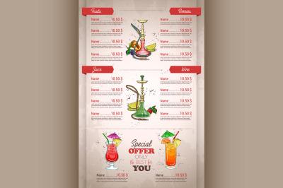 Vector vertical color menu design