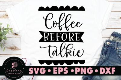 Coffee before talkie SVG