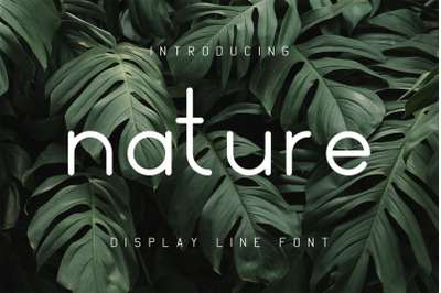 Nature Display Line Font