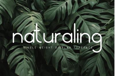 Naturaling Display Font