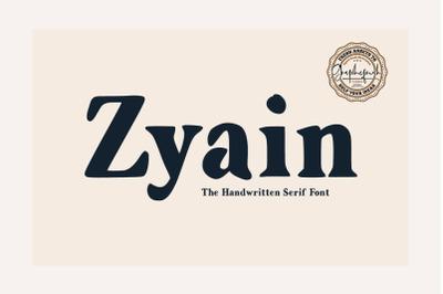 Zyain  The Handwritten Serif Font