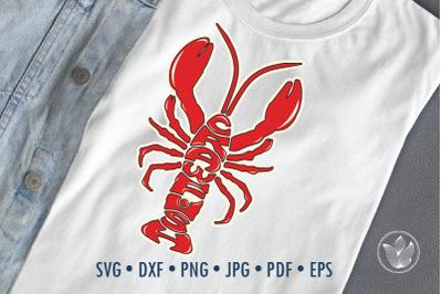 Crawfish Word Art, Svg Dxf Eps Png Jpg, T-shirt Typography overlay