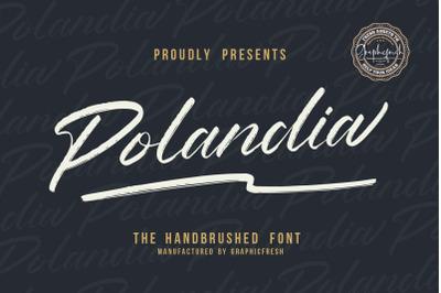 Polandia  The Handbrushed Font