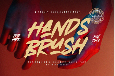 Hands Brush  Strong Urban Brush Font