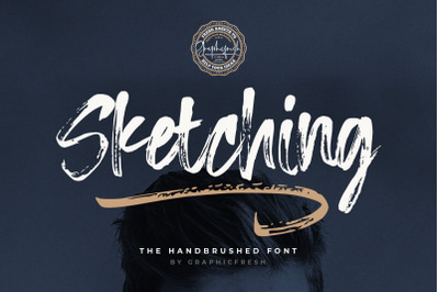 Sketching  The Handbrushed Typeface