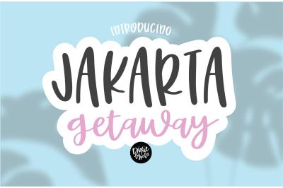 JAKARTA GETAWAY Hand Lettered Font
