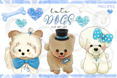 Cute Dogs - Blue Version
