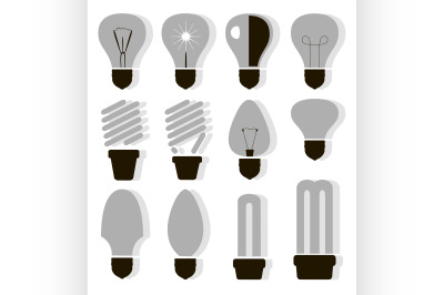 Bulb logo icons set