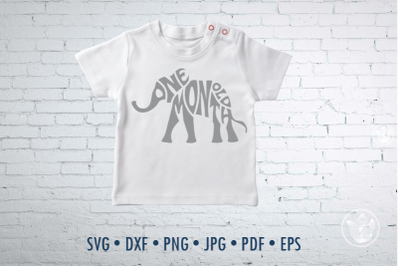 Baby Elephant One Month Old, svg, png, eps, Cut file