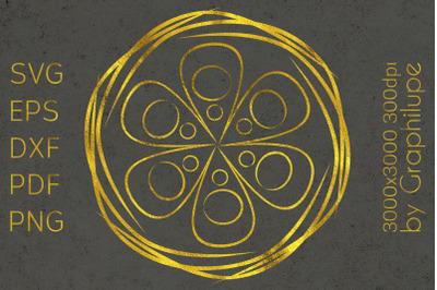 Simple Tribal Mandala cut file SVG no.15
