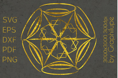 Simple Tribal Mandala cut file SVG no.16