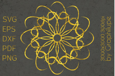 Simple Tribal Mandala cut file SVG no.17