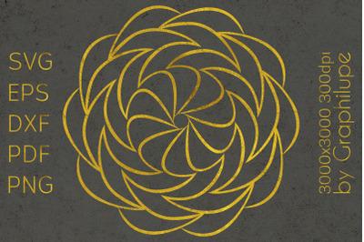 Simple Tribal Mandala cut file SVG no.18