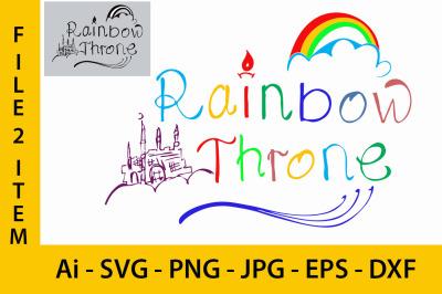 Rainbow Throne SVG