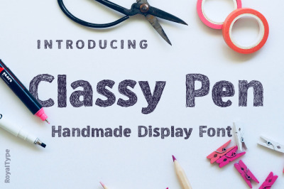 Classy Pen | Sketch Style Font