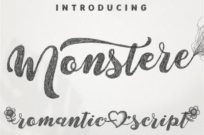 Monstere Script | Sketch Style