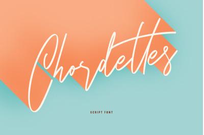 Chordettes Signature Script Brush Handmade Font