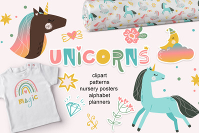 Unicorn SET Baby illustrations