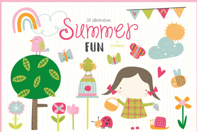 Summer fun clipart