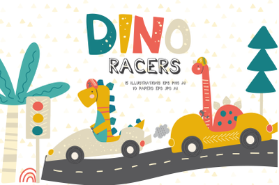 Dino Racers clipart