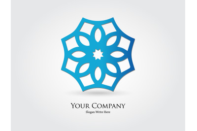 Logo Abstract Gradient Blue