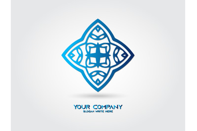 Logo Abstract Gradient Blue Color