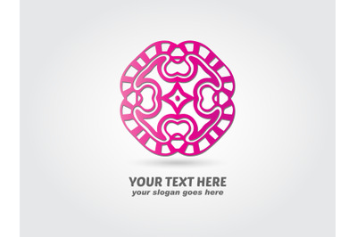Logo Abstract Pink Gradient Color