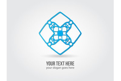 Logo Abstract Blue Color