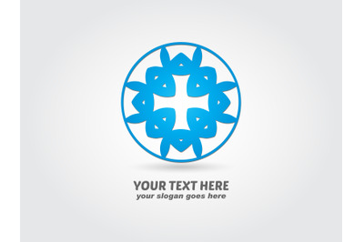 Logo Abstract Round Blue Color