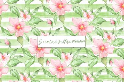 Spring floral seamless pattern 1