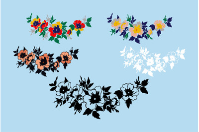 Cherry branches with flowers vector illustration isolated