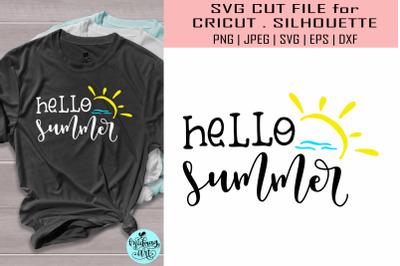 Hello summer svg&2C; summer svg