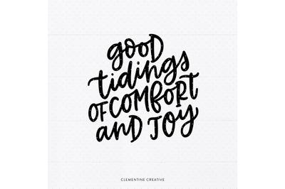 Christmas Quote SVG Design | Comfort and Joy SVG | Christmas Saying Sv