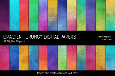 Gradient Grungy Texture Digital Papers
