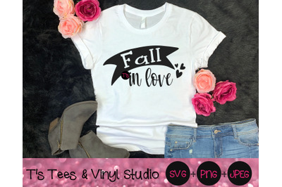 Fall In Love Svg, Lovers Svg, Autumn Svg, Season Svg, Hearts Svg, Fall