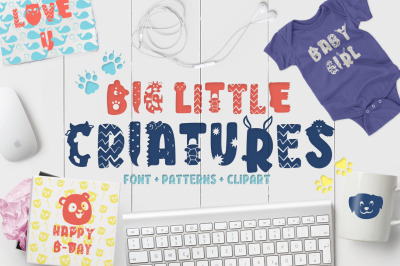 Big Little Creatures - Animal font + Extras