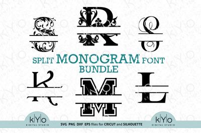 Split Monogram Fonts Svg Bundle