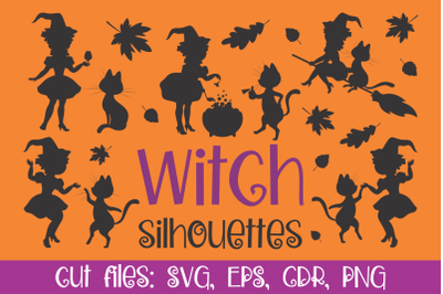 Witch silhouettes. Cutting SVG files