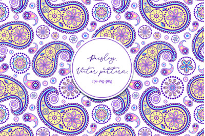 Paisley. Vector pattern.