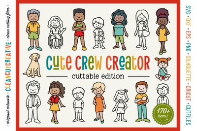 CUSTOM FAMILY CREATOR stick figure people portrait generator SVG cuts