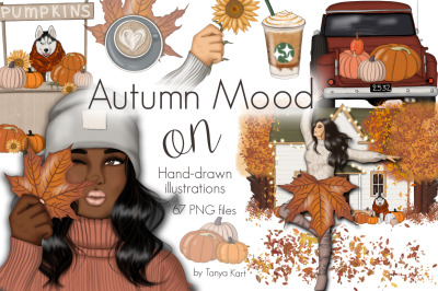 Autumn Mood On Clipart & Pattern
