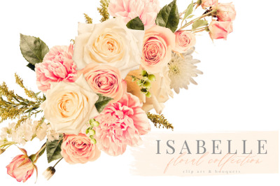 Isabelle Clip Art Floral Graphics Collection