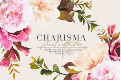 Charisma Watercolor Flowers