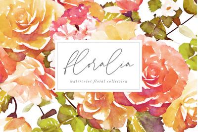 Floralia Watercolor Floral Graphics