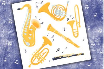 Musical Jazz Instruments